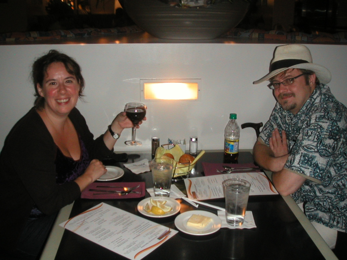 Dinner at the Concourse Steakhouse, Disney's Contemporary Resort, September 19, 2007.