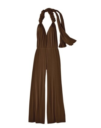 01 Wedding Wkend Brown Jumpsuit Close-Up